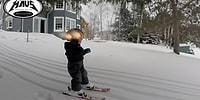 Profesyonel Kayakçılara Taş Çıkartan 2 Yaşındaki Ufaklık