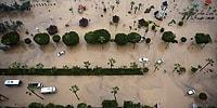 Selle Boğuşan ve Okulların Bir Gün Tatil Edildiği Mersin'den İnanılmaz Görüntüler