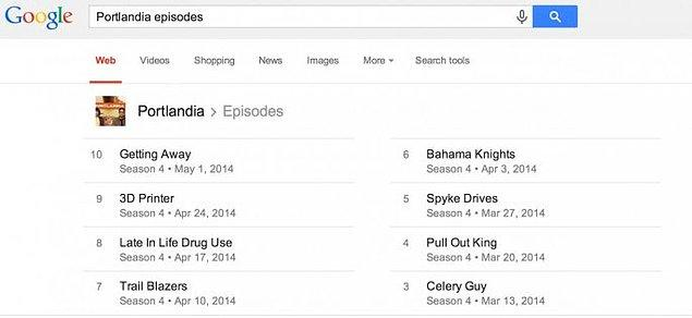10. Sevdiğiniz dizilerin yeni sezon bölümlerinin ne zaman yayına gireceğini merak ediyorsunuz veya geçmiş bölümlerinin ne zaman yayına girdiği lazım oldu... Google'a sorun, halleder o.