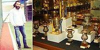 Fenerbahçe Müzesi'ne Girip Şampiyonluk Kupası'nı Çalmaya Çalışan Trabzonspor Taraftarı
