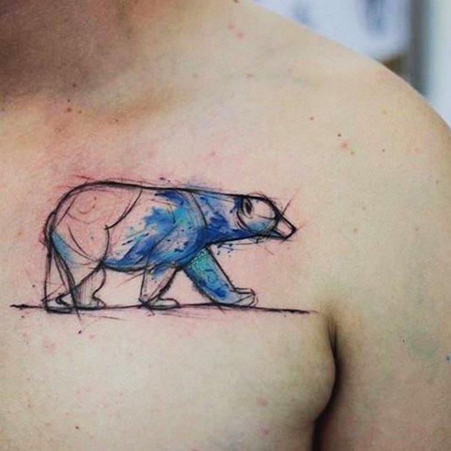 3. Hem kutup ayısının hem de sulu boya efektinin güzelliği. 😍😍