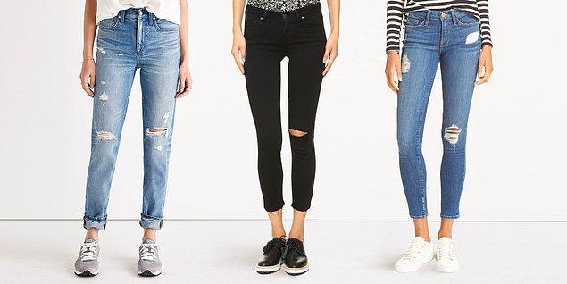 2. Peki, eskitme detaylı kot pantolon giyer misin?