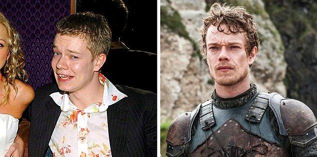 21. Alfie Allen (Theon Greyjoy), 2004 vs 2017
