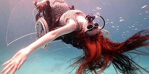 Hiçbir Şey İmkansız Değildir! Tekerlekli Sandalyesi ile Kızıldeniz'e Dalan Kadın