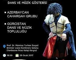 Kafkas Gösterisi 29 Ocak'ta Prof. Dr. Mümtaz Turhan Konferans Salonunda