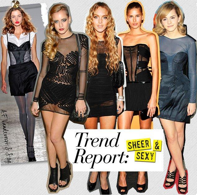 Tam bu iddialı trend silindi gitti derken, moda dünyası yeni sansasyonel akımını başlatıverdi: Şeffaf Kıyafetler!