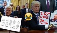 İmzaladığı Kararnameyi Kameralara Doğrultan Trump'ın Mizaha Kurban Gittiği 19 Görsel