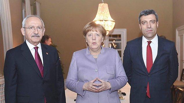 Merkel, Başbakan Yıldırım'la görüşmesinin ardından CHP lideri Kemal Kılıçdaroğlu ile bir araya geldi