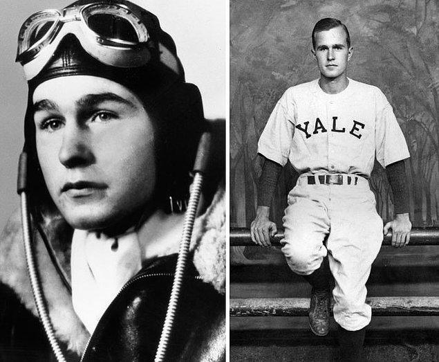 10. George H. W. Bush - Yaş: 18