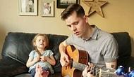 Baba ve 4 Yaşındaki Kızından Mükemmel Düet