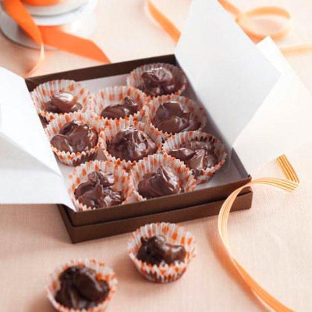 8. Sevgiliniz bu ev yapımı çikolataya kesin çok bayılacak!