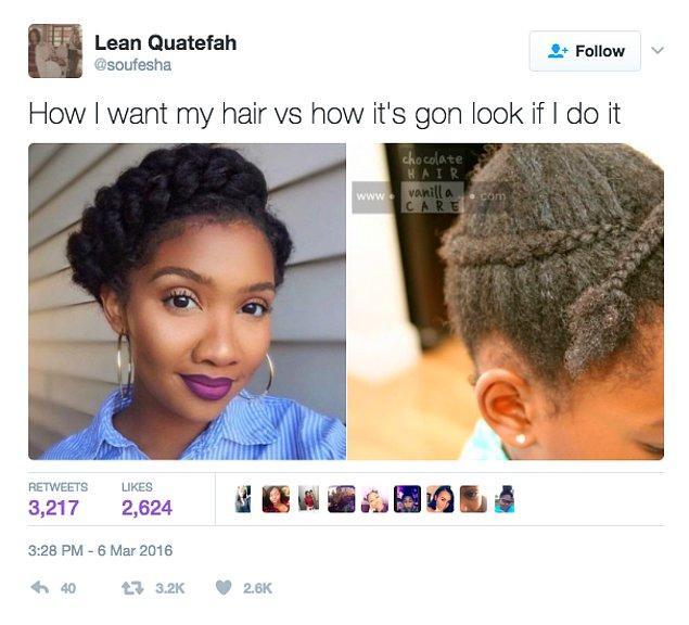 16. Saç şekillendirme videolarında gördüklerini denemek ve yanılmak 😂