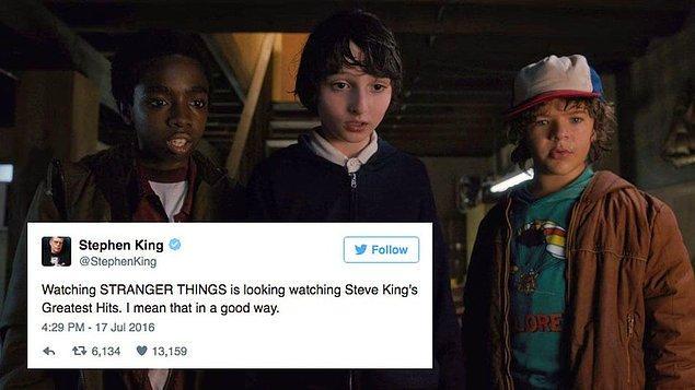 Bu arada, King de bizim gibi dizinin sıkı takipçilerinden…