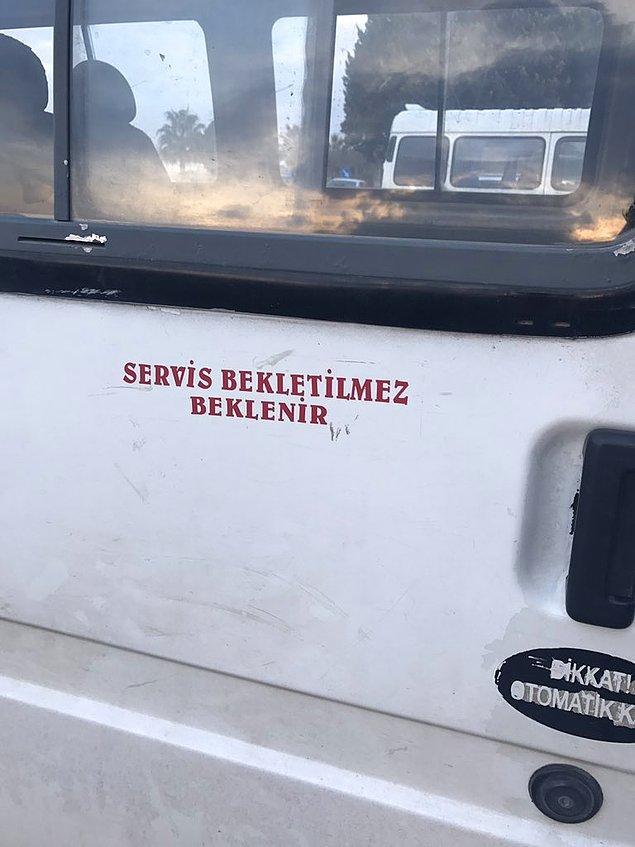 13. Adana'da servis bekletilmez