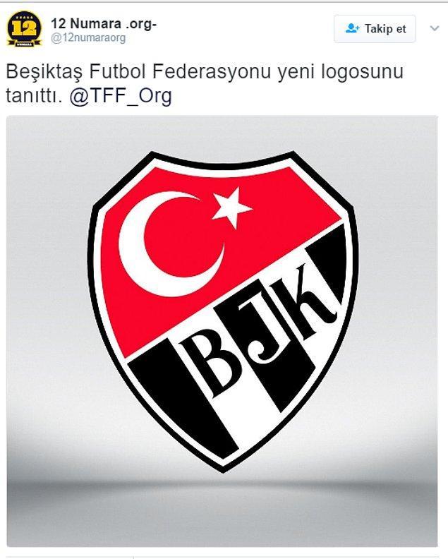 1. Her şey @12numaraorg hesabının Türk bayrağı ve BJK yazan logo ile birlikte ''Beşiktaş Futbol Federasyonu yeni logosunu tanıttı.'' tweetiyle başladı.