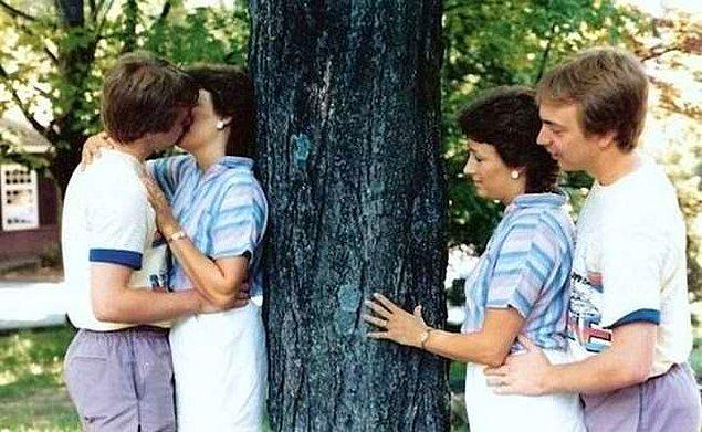 13. Kendi öpüşmelerini onlara katılmak istermiş gibi şevkle izleyen çift?!?!