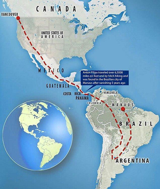 Anton Pilipa iki kıta geçti. Kanada kökenli bir Brezilya polisi tarafından keşfedildi.