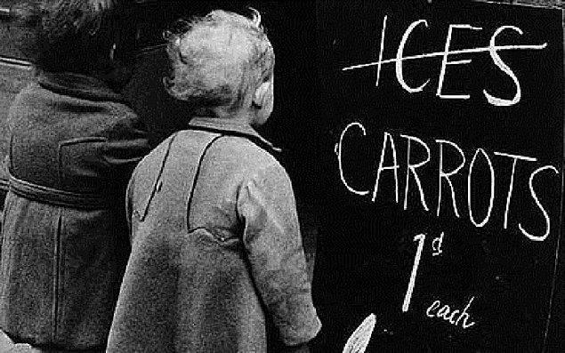 Hatta öyle ki, çocuklara dondurma yerine havuç yemeleri bile tembihleniyordu.