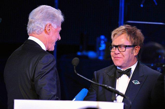 3. Elton John & Bill Clinton