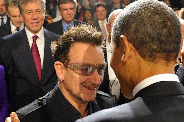 5. Bono (U2) & Barack Obama