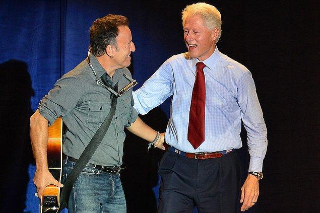 8. Bruce Springsteen & Bill Clinton