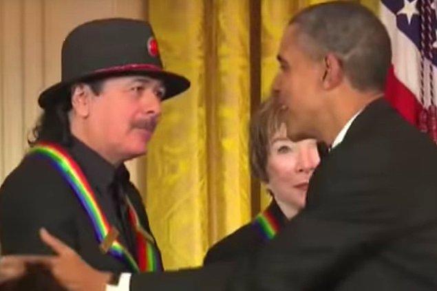 10. Carlos Santana & Barack Obama