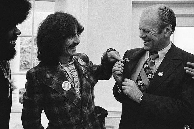 16. George Harrison & Gerald Ford