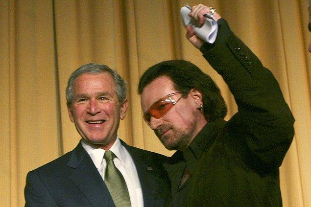 19. Bono (U2) & George W. Bush