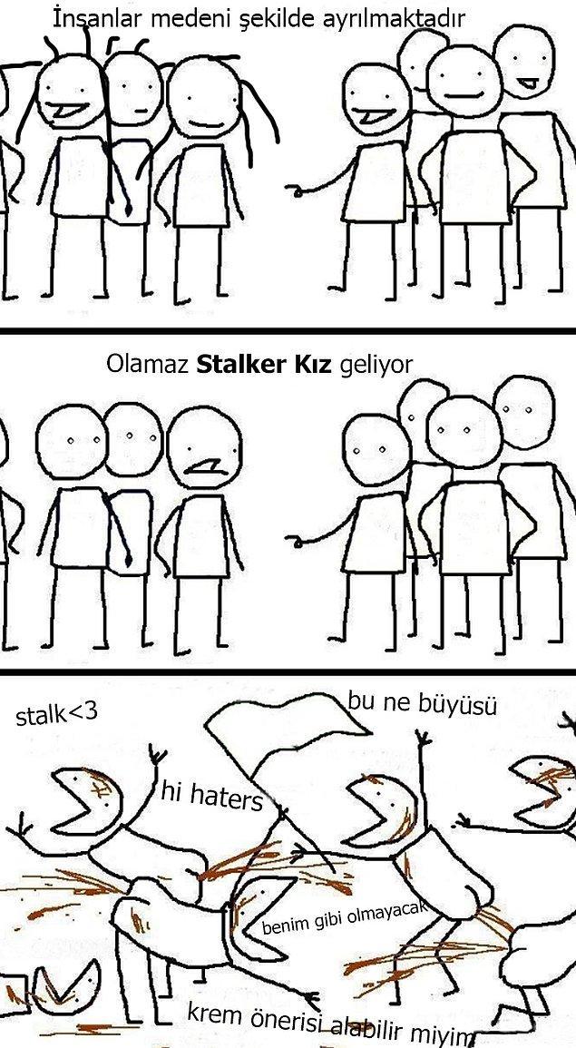10. Stalker kız
