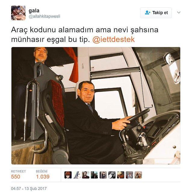 Ancak Galatasaraylı olduğu anlaşılan kişi, kulüp başkanı Dursun Özbek'in bu fotoğrafını göndererek niyetini belli etti: Troll
