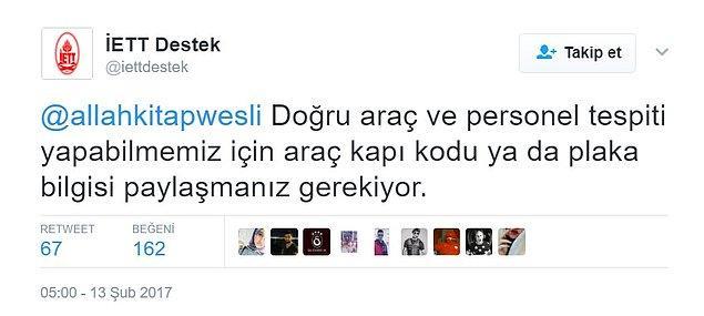İETT'nin hesabı ise Dursun Özbek'i tanımayarak hemen tufaya geldi.