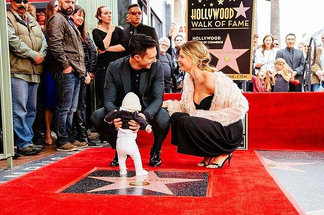 Hollywood'da görüntülenen minik ünlümüz için, bu özel günde Walk of Fame'den daha iyi bir yer düşünülemezdi herhalde.
