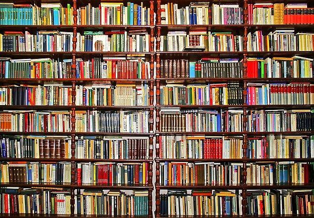 6. Kitapların içinde kaybolun.