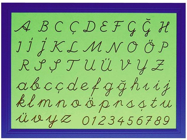8. Büyük harflerden hangileri el yazısı ile bitişik yazılmaz?