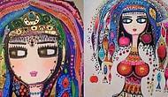 Koca Gözlü ve Süslü Hitit Gelinlerini Tabloda Yeniden Canlandıran Ressam: Canan Berber