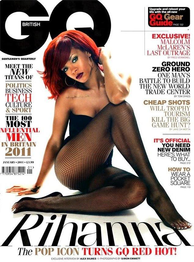 6. 2012 yılında British GQ dergisinin bir sayısında kırmızı saçlarıyla hepimize hayat verdiğinde...
