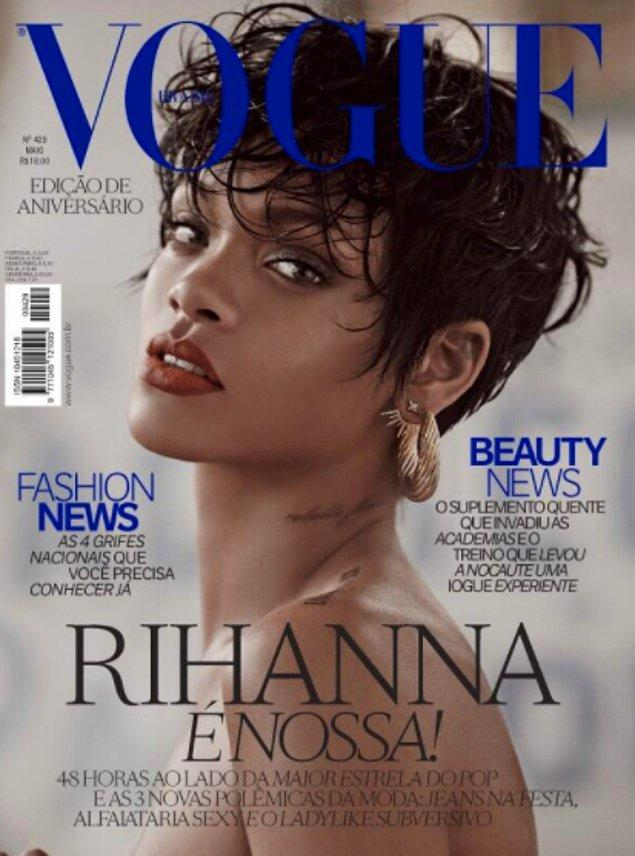 12. Kelimelerin tükenmesine neden olan Vogue Brazil kapağı, 2014 yılı...