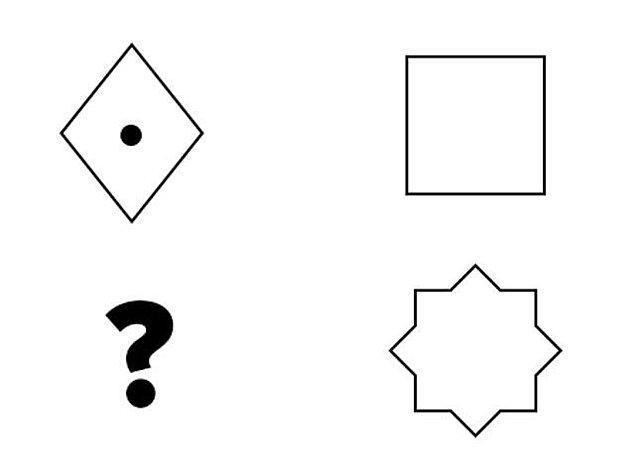 1. İlk sorumuz birazcık basit olsun. '?' işareti olan yere hangisi gelmeli?