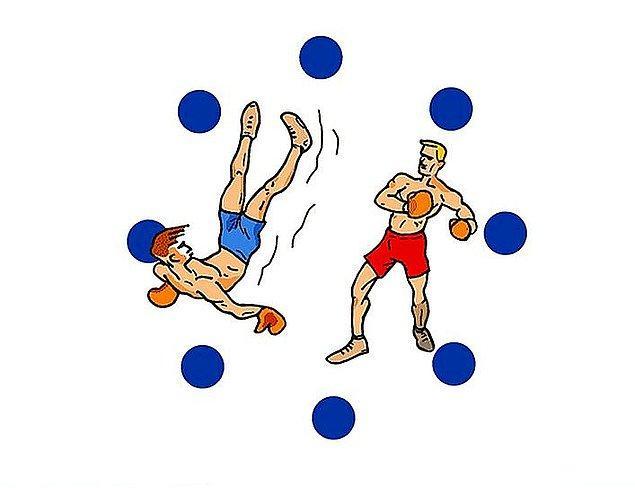 2. Bu sekiz noktayla bir daire çizilebilir. Peki, bu sekiz noktayı da içine alan bir kare çizmek mümkün mü?
