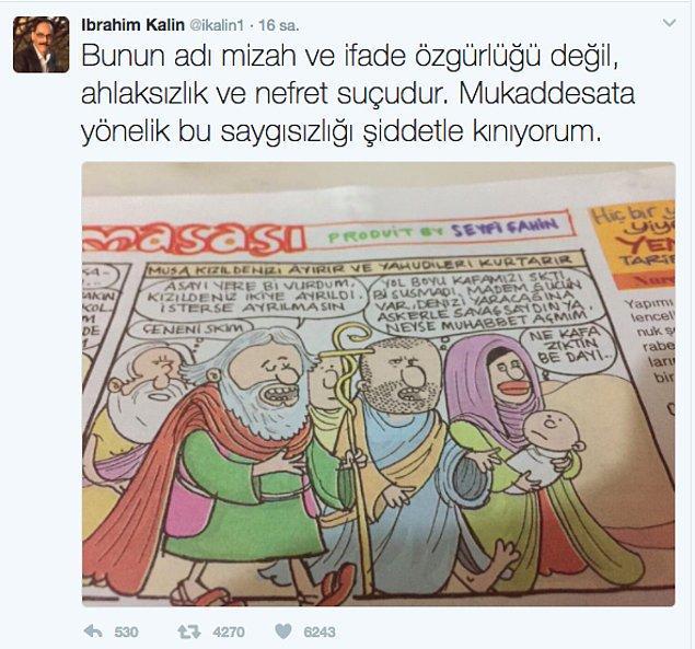 Haftalık olarak yayımlanan Gırgır mizah dergisinin yeni sayısında Hazreti Musa ile ilgili bir karikatür yayımlandı.