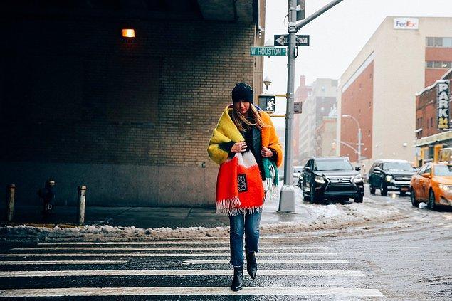 14. Dev battaniye atkılar, buz gibi soğuk günlerin kurtarıcısı.