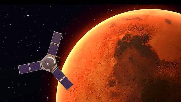 """2117 projesi yolundaki ilk hedef ise Birleşik Arap Emirlikleri'ne ait """"Hope"""" isimli insansız araştırma aracının Mars'a gönderilmesi."""