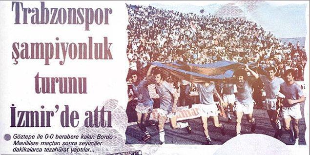 9. Anadolu'nun ilk şampiyon takımı; Trabzonspor'dur.