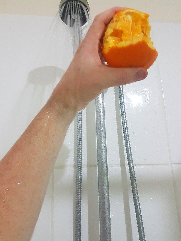 Kısaca; duş portakalı fotoğraflarıyla.