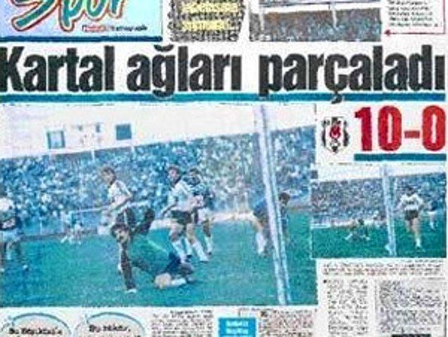 19. En farklı Süper Lig maçı: 15 Ekim 1989'da oynanan maçta Beşiktaş, Adana Demirspor'u 10-0 yendi.