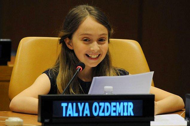 Talya Özdemir, henüz 11 yaşında bir kızımız.