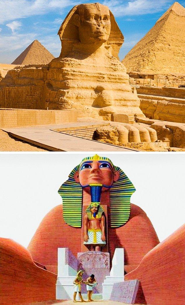 6. Sfenks'in orijinal görünüşü
