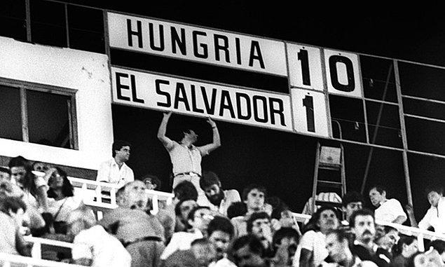 Dünya Kupası'nın en farklı galibiyetini 15 Haziran 1982'de El Salvador'u 10-1 mağlup eden Macaristan elde etti.