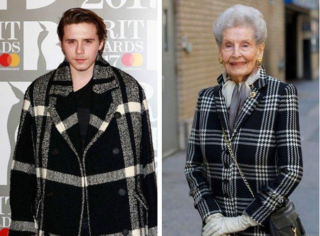 1. Brooklyn Beckham büyükanne gibi görünüyordu.
