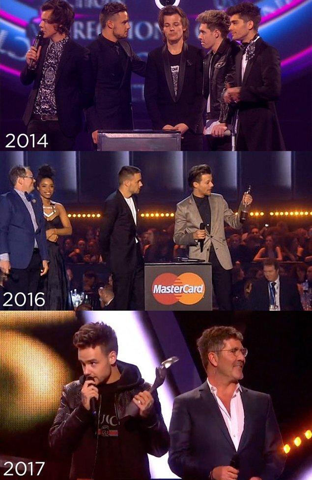 9. One Direction, Yılın Video Klibi ödülünü kazandı ancak onu almak için yalnızca Liam Payne gelmişti.